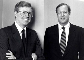 Charles Koch, left, and David Koch, pictured in 1970. (Courtesy Koch Industries Inc. via Wichita Eagle/MCT)