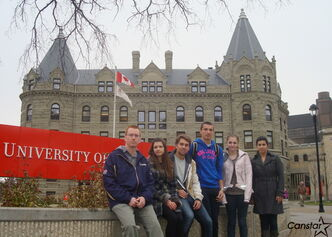 Prof. Jody Perrun (left) and a group of students will travel to Poland, the Czech Republic and Germany next year.