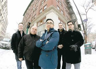 Clinic-One directors (from left) Robert Speirs, Peter Kaufmann, Ryan Chan, Kris Allen and Michael Stronger in front of their soon-to-be medical offices.