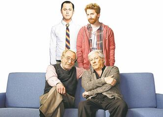 Clockwise from top left, Giovanni Ribisi, Seth Greene, Peter Riegert and Martin Mull in Dads.