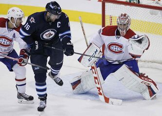 The Jets peppered Habs goaltender Carey Price with 36 shots on the night, but couldn't crack the goose egg.