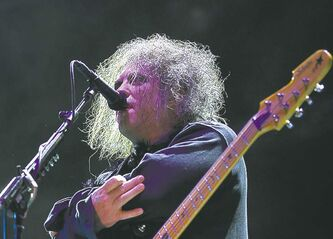 Robert Smith, frontman of English rock band The Cure.