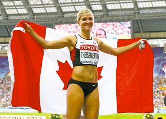 Brianne Theisen Eaton won Canada's second medal at the world championship.