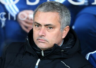 Chelsea's manager Jose Mourinho looks on ahead of their English Premier League soccer match against Hull City at the KC Stadium, Hull, England, Saturday, Jan. 11, 2014.
