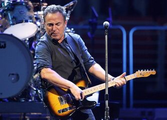 "Bruce Springsteen and the E Street Band perform during the Wrecking Ball tour at the Wells Fargo Center Wednesday, March 28, 2012 in Philadelphia. The Boss has added a couple of Canadian dates to his world tour supporting his latest album, ""Wrecking Ball. THE CANADIAN PRESS/AP,Alex Brandon"