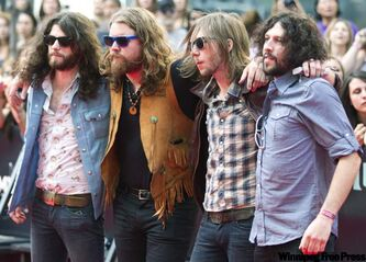 The Sheepdogs, recently on the cover of Rolling Stone, hit the stage at 7:40 p.m.