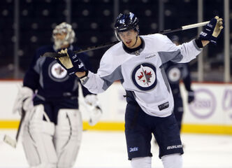 Rookie centre Mark Scheifele and the Jets have a tall task Saturday when they face the defending Stanley Cup champions from Chicago.