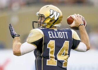 QB Joey Elliott will get the start in Regina this weekend.