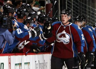 Ryan Stoa, seen here playing for the Avalanche, is not unhappy about being assigned back to the Lake Erie Monsters for the AHL playoffs against the Manitoba Moose.