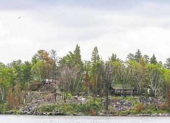 Tom Thomson / Winnipeg Free Press The burnt-out portion of a former cottage development at Devil's Gap in Lake of the Woods.