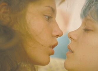 Léa Seydoux and Adèle Exarchopoulos in Blue is the Warmest Color.