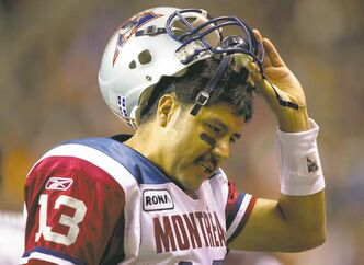 For years, people have been predicting the decline and fall of Montreal Alouettes'  quarterback Anthony Calvillo, who will turn 40 this season.
