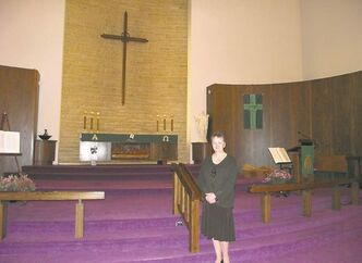 Pastor Kolleen Karlowsky-Clark of the Evangelical Lutheran Church of the Cross.