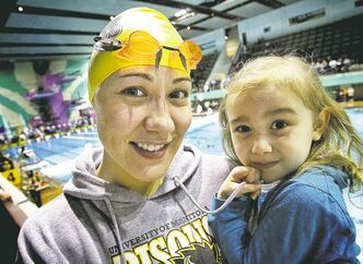 Kimberly Moors, with daughter Mila Gaslard, 3, has qualified for the CIS championships after just two months of training.