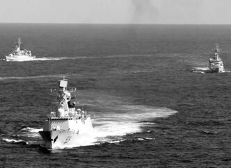THE ASSOCIATED PRESS ARCHIVESChinese naval vessels, part of an expanding military fuelled by economic growth, are symbols of a power shift, not a fact of it.