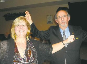 Effie Avramidis and Perry Ginakes celebrate Greek Community Oxi Day on Nov. 2.