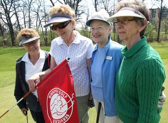 Windsor Park Ladies Golf Club foursome: Jean Mercer, Jan Cavers, Susan Finlay, Betty Grant, from left.