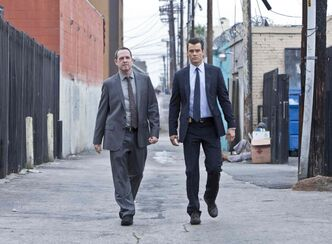 Dean Winters (left) and Josh Duhamel make a reluctant duo in the comedy drama Battle Creek.