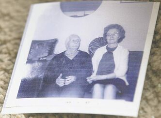 Edith Smallpiece at right in photo who was believed to have been murdered on Feb 23, 1973.