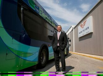 Paul Soubry, president and CEO of New Flyer, which is using the Vehicle Technology Centre to produce new battery-only buses.