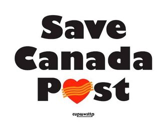 Postal workers and supporters of the postal service will be window signs (pictured) with the hopes of building public support against the proposed changes.