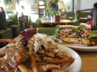 Turkey Poutine and Club Mansion at Osborne Village Café.