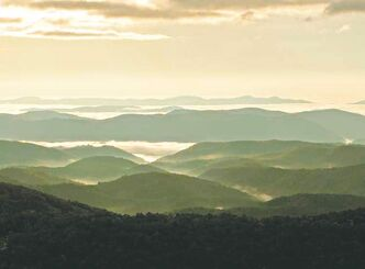 Scenic view from the Blue Ridge Mountain Parkway.
