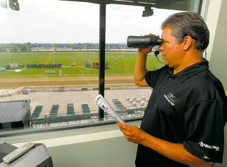 Kirt Contois took over as track announcer at Assiniboia Downs on May 5 when his mentor, Darren Dunn, stepped away to devote himself to his job as track CEO.