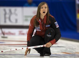 Canada skip Rachel Homan calls out instructions against the Czech Republic Sunday. Her coach, Earle Morris, has spent the past few months listening in on Homan and her team's on-ice chatter and has helped perfect the team's communication during games.