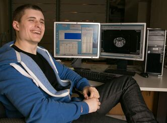 University of Winnipeg Trevor Vincent graduates this spring with a physics degree. During the summer Vincent completes research using MRI studies of rodent brains for Alzheimer's research.