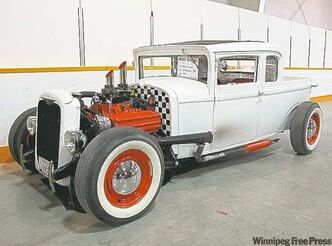 Brent Hoitink of the Riff Raff Car Club unveiled his freshly built 1928 Chrysler.
