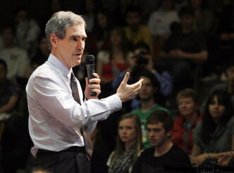 Liberal Leader Michael Ignatieff participates in a town hall meeting earlier this week.