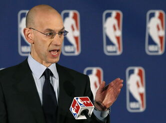NBA commissioner Adam Silver announces L.A. Clippers owner Donald Sterling has been banned for life by the league.