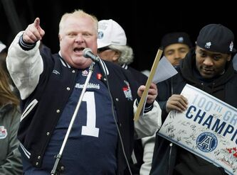 Toronto Mayor Rob Ford is expected to take in tonight's Bombers game versus the Argonauts.