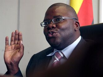 Zimbabwe's finance minister Tendai Biti in Harare on Feb. 18, 2009. THE CANADIAN PRESS/AP