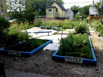 The garden is shown with new paint.