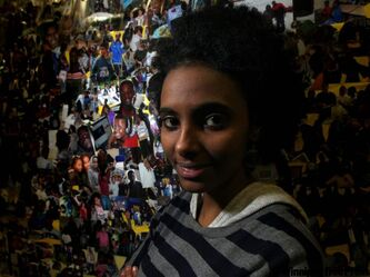 Weyni Abraha is raising money to ensure students in her home village in Ethiopia aren't hungry once they get to school.