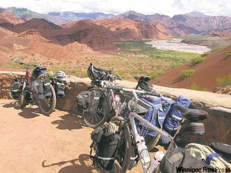 One of the many view points along the Quebrada de Cafayate in the province of Salta, Argentina.
