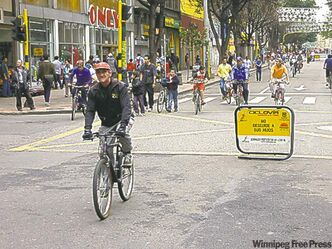 To the delight of pedestrians and cyclists alike, 122 kilometres of downtown streets in Bogota are closed to motorized traffic from 7 a.m. to 2 p.m. every Sunday.