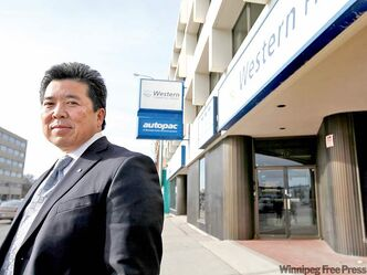 Wayne Sato, of Cushman and Wakefield, outside 777 Portage Ave. He helped broker the 20-year lease with the provincial government. The property will be expanded and remodelled to accommodate the estimated 180 civil servants from three provincial offices who will work there beginning in the fourth quarter of 2013.