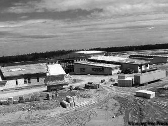 Opaskwayak Cree Nation�s Oscar Lathlin Collegiate (shown below under construction) � is an example of a successful reserve school.