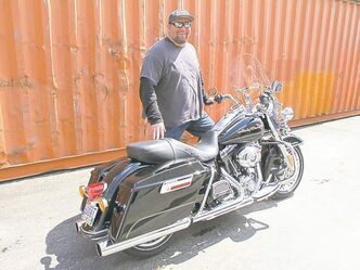 Our resident rider with his Harley-Davidson Road King. Last year, Willy rode more than 10,000 kilometres without leaving Manitoba.
