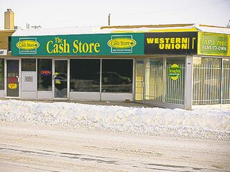The Cash Store on McPhillips Street.