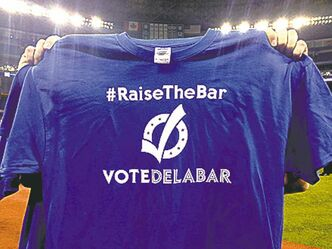 Jays' T-shirts support teammate Steve Delabar's bid to play in all-star game.