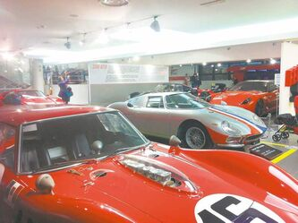 The Ferrari museum includes old and new models from the famed manufacturer.