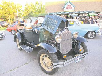 Willy�s late father Dave�s �39 Ford coupe, above, at the Pony in 2004. Left, check out the 1930 Model A Ford roadster pickup!