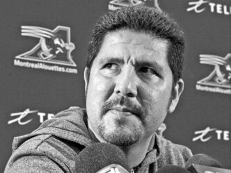 Montreal Alouettes quarterback Anthony Calvillo addresses reporters Monday after cleaning out his locker, perhaps for the last time.