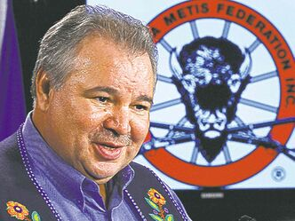 David Chartrand, president of the Manitoba Metis Federation. Settlement talks are expected to start this year that Chartrand hopes will result in a substantial capital infusion.
