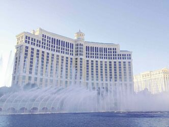 The fountains at the Bellagio are a big attraction on the Vegas strip.