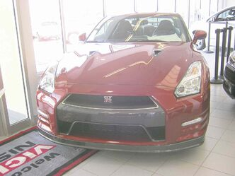 The new GT-R is powered by a twin-turbo V6 engine that puts out 545-hp.